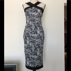 Beautiful Abstract Cross over Dress